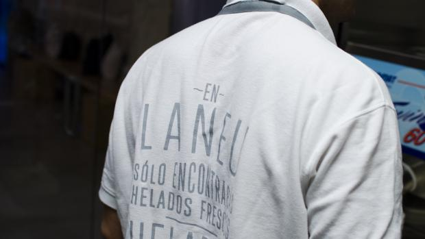 Heladería artesana Laneu en el centro de Alicante