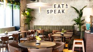 <p>EAT &amp; SPEAK, el nuevo restaurante de Alicante. Puedes ir a cualquier hora del día, comer y divertirte con amigos. Un plan gastronómico y de ocio perfecto.</p>